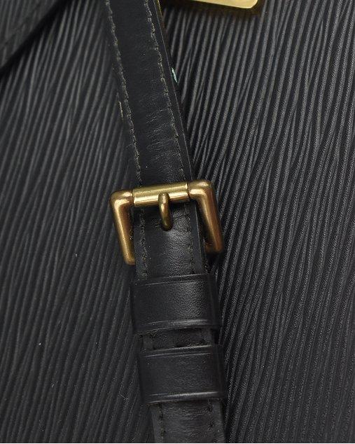 Pasta Louis Vuitton Serviette Ambassadeur Briefcase Preta Vintage