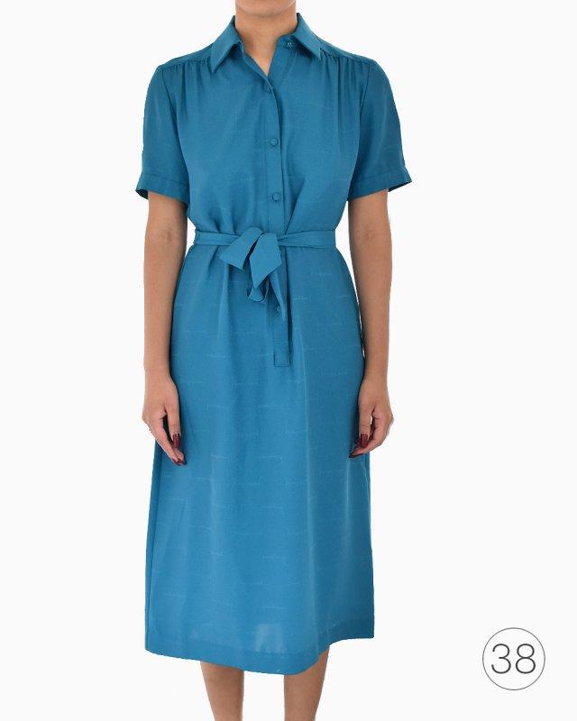Vestido De Seda Pierre Balmain Azul