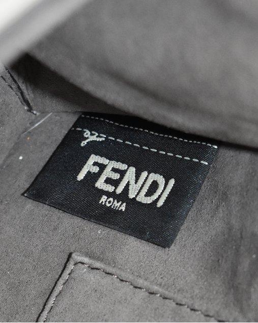 Bolsa Fendi Kan I F Cinza