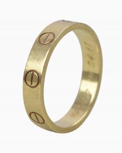 Anel Cartier Love Dourada Feminino