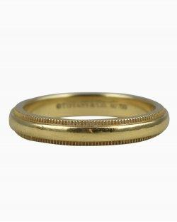 Anel Tiffany & Co. Milgrain Dourado