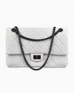 Bolsa Chanel 2.55 Média Branca