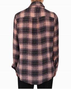 Camisa De Seda Mixed Rosa E Preto