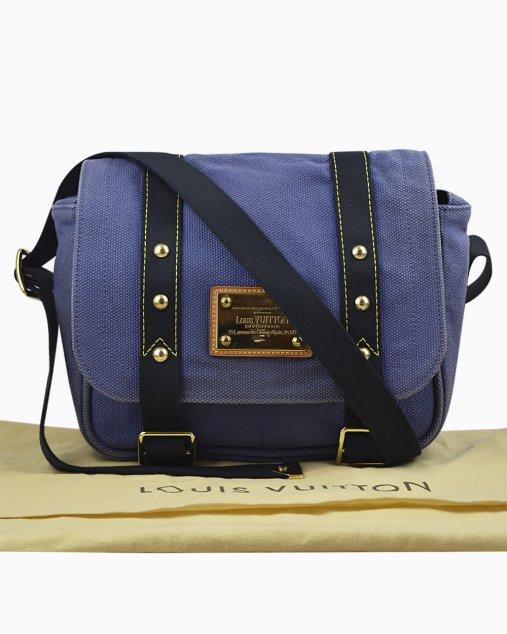 Bolsa Louis Vuitton Antigua Besace Messenger Azul