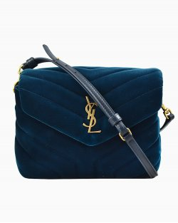 Bolsa Yves Saint Laurent Loulou Toy Azul