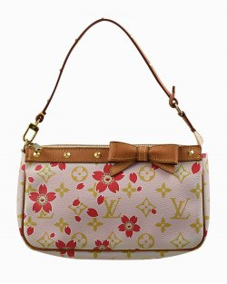 Bolsa Louis Vuitton Pochette Monograma  Rosa
