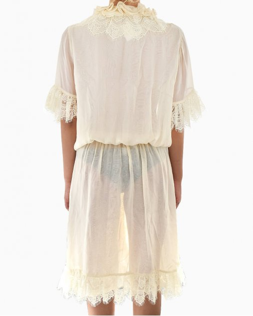 Vestido de Seda Cris Barros Off White