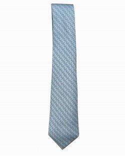 Gravata Hermès Azul Clara