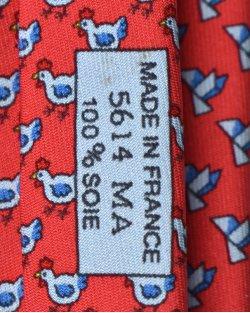 Gravata Hermès Estampada