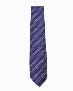 Gravata Hermès Listras Azul e Vermelho