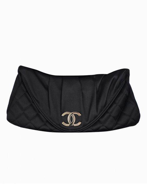 Clutch Chanel Envelope CC Preta