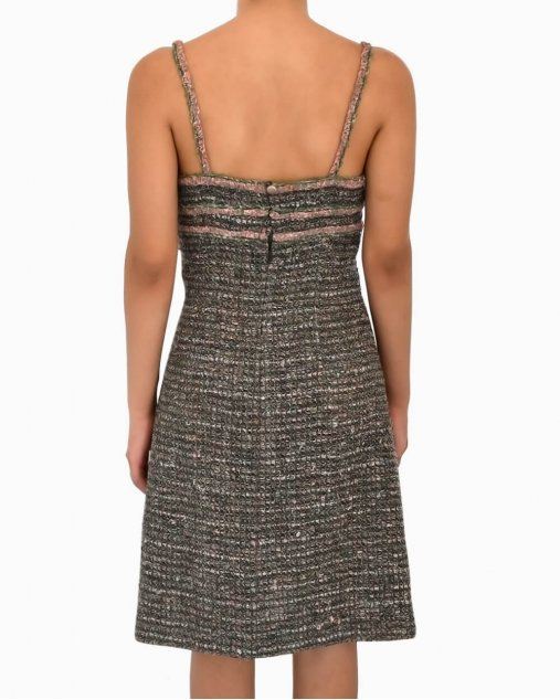 Vestido Tweed Chanel Multicolor