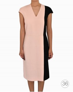 Vestido Fendi Bicolor