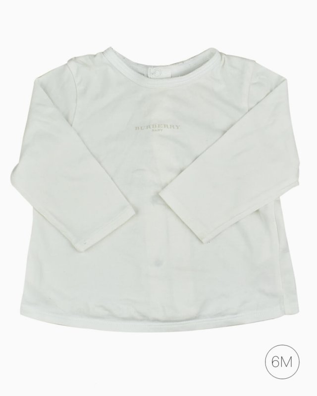 Blusa Infantil Burberry Baby OffWhite