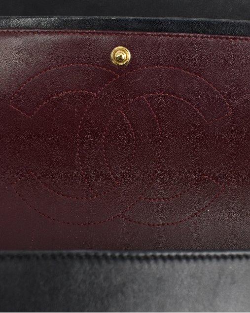 Bolsa Chanel Double Flap Jumbo Preta