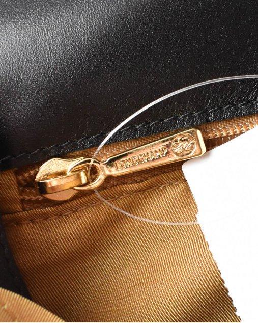 Clutch Longchamp De Couro Preta