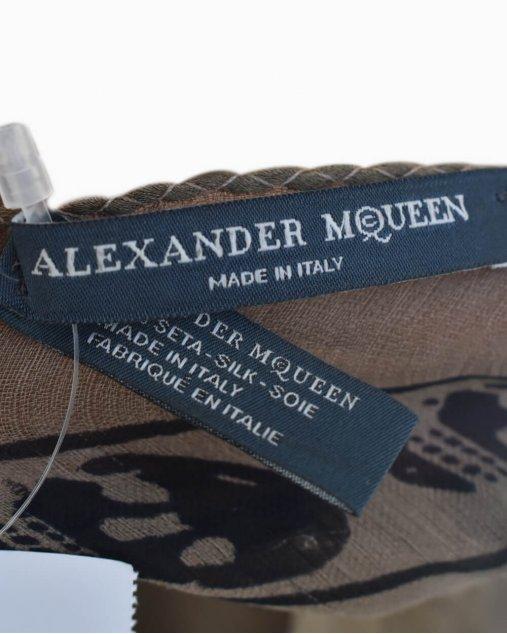 Echarpe Alexander Mcqueen Estampado Marrom