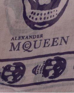 Echarpe Alexander Mcqueen Estampado Rosa
