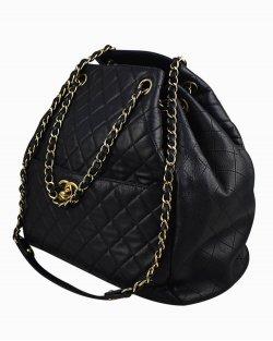 Bolsa Chanel Drawstring Preta