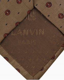 Gravata Lanvin Estampada Marrom