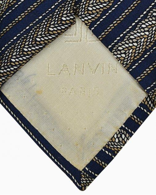 Gravata Lanvin Azul Marinho