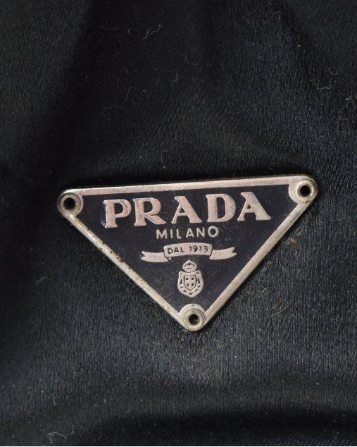Bolsa Prada De Cetim Vintage Preta