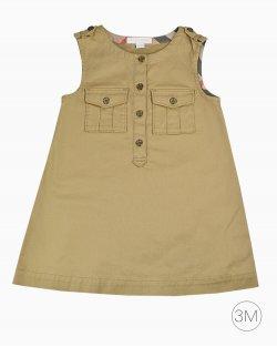 Vestido Burberry Infantil Caqui