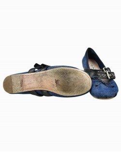 Sapatilha Miu Miu Flat Ballerina Azul