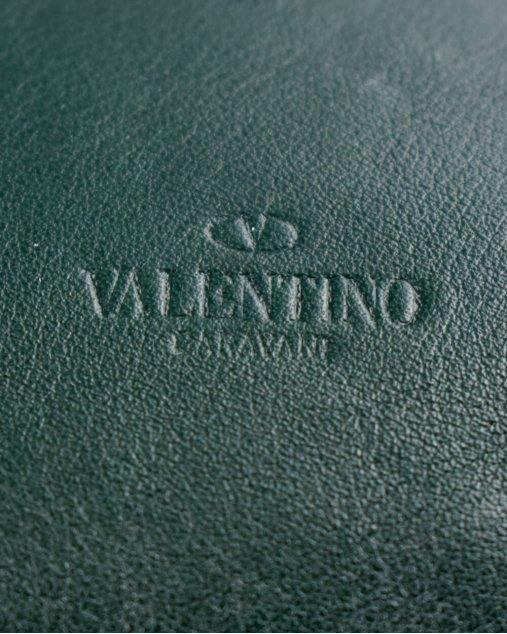 Clutch Valentino de Couro Verde