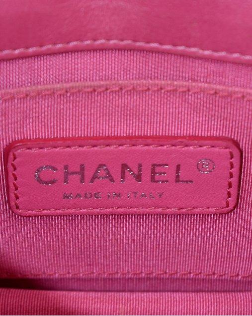 Bolsa Chanel Boy Lego Brick Rosa