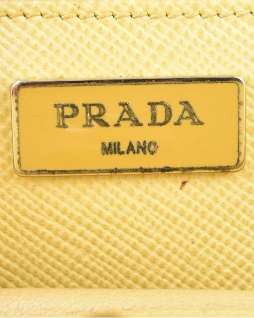 Bolsa Prada de Couro Amarelo Vintage