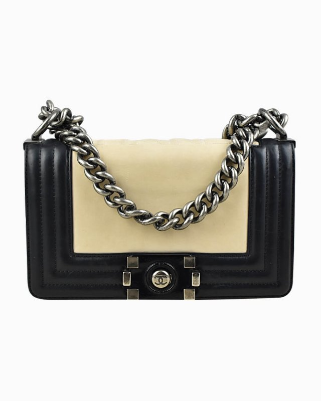 Bolsa Chanel Boy Small Bicolor