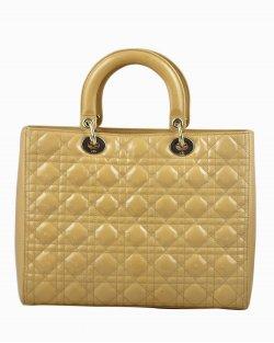 Bolsa Christian Dior Lady Dior Grande Bege