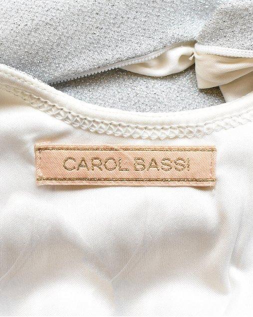 Vestido de Lurex Carol Bassi Prateado