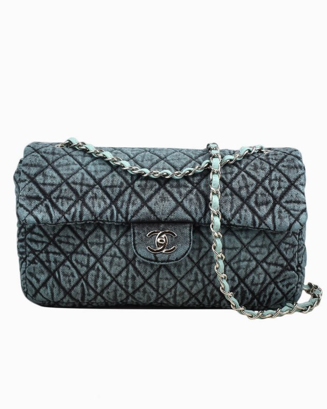 Bolsa Chanel Single Flap Jumbo Edição Limitada Azul
