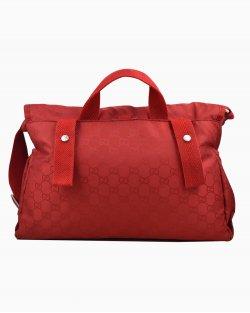 Bolsa Gucci Diaper Messenger de Nylon Vermelha