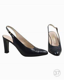 Sapato Chanel Slingback Preto Vintage