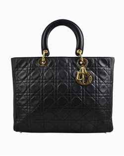 Bolsa Christian Dior Lady Grande Preta