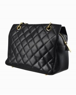 Bolsa Chanel Petite Timeless tote Preta