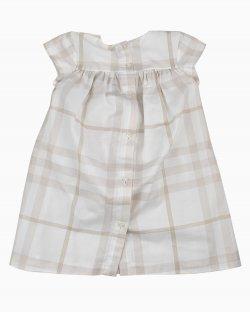 Vestido infantil Burberry Xadrez Branco