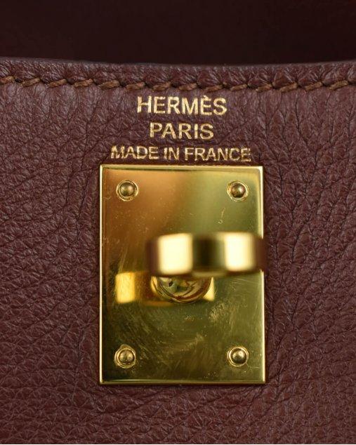 Bolsa Hermes Kelly Danse de Couro Marrom