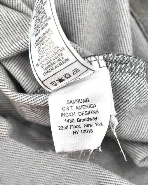 Camisa infantil 7 for all mankind cinza