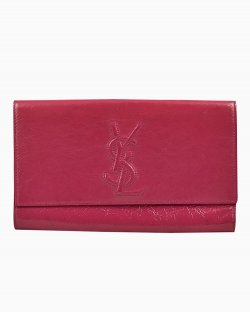 Clutch Saint Laurent Belle du Jour Rosa