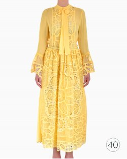Vestido Costarellos Amarelo