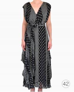 Vestido Diane Von Furstenberg longo poá