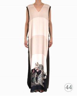 Vestido Cris Barros Bicolor