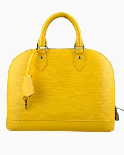 Bolsa Louis Vuitton Alma Epi Amarela