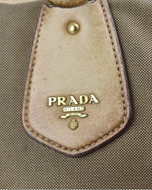 Bolsa Prada Jacquard Bege