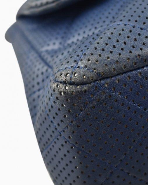 Bolsa Chanel Single Flap Azul