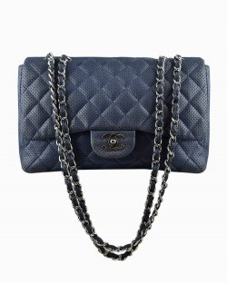 Bolsa Chanel Single Flap Azul